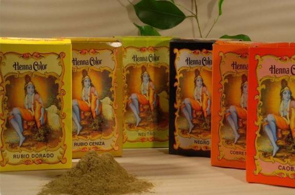Colora��o em p� Henna Color Louro dourado 100 g - Radhe Shyam
