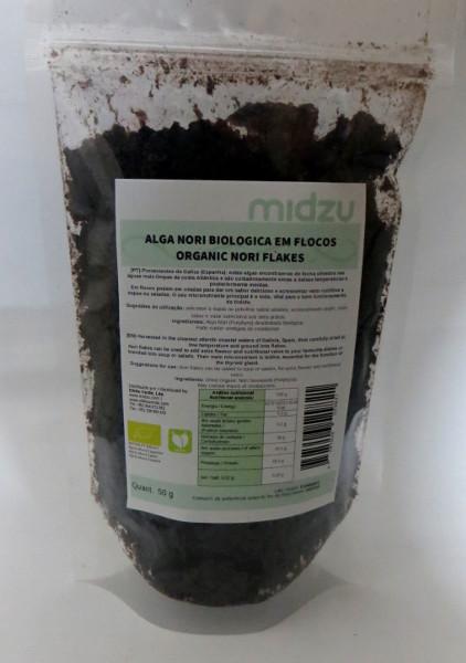 Alga Nori biológica em flocos Midzu 50g