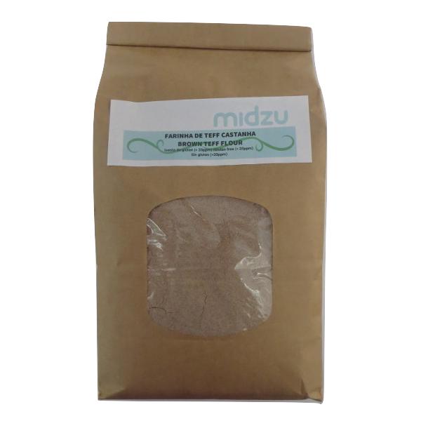 Farinha de Teff castanha Midzu 1Kg