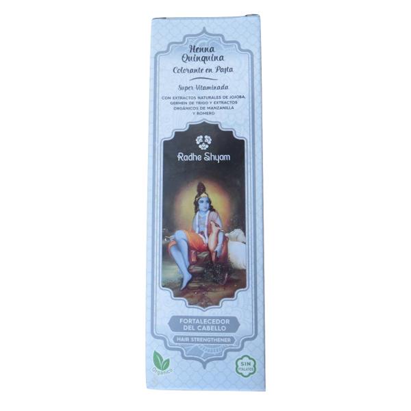 Fortalecedor de cabelo em pasta super-vitaminada Henna Quinquina 200 ml - Radhe Shyam