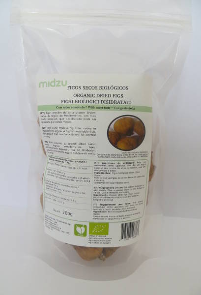 Figos secos biológicos Midzu 200g